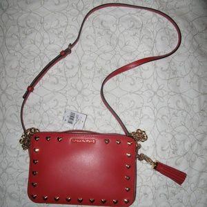 Michael Kors Ginny camera bright red handbag